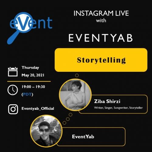 EventYab Live - Storytelling with Ziba Shirazi
