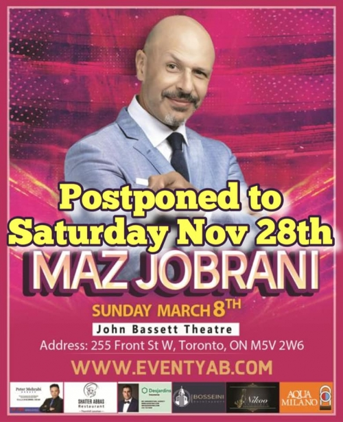 CANCELLED - Maz Jobrani Live in Toronto (Doors Open 4 pm)