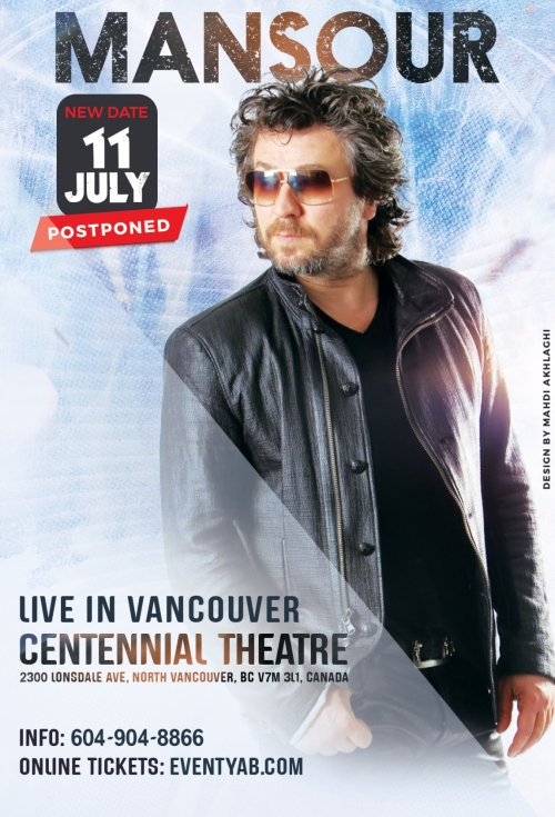 CANCELED - MANSOUR Live in Vancouver